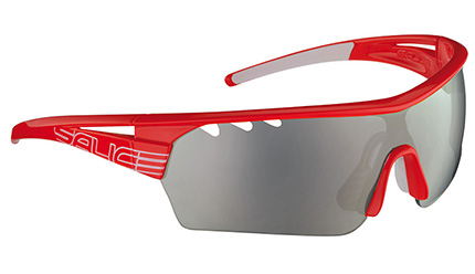Red frame with black lens