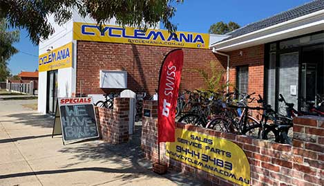 Cyclemania North Perth - your local bike store and service centre